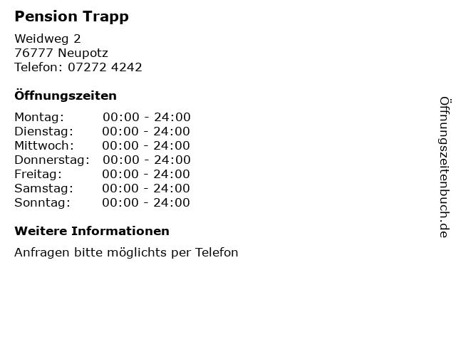 Pension Trapp in Neupotz: Adresse und Öffnungszeiten