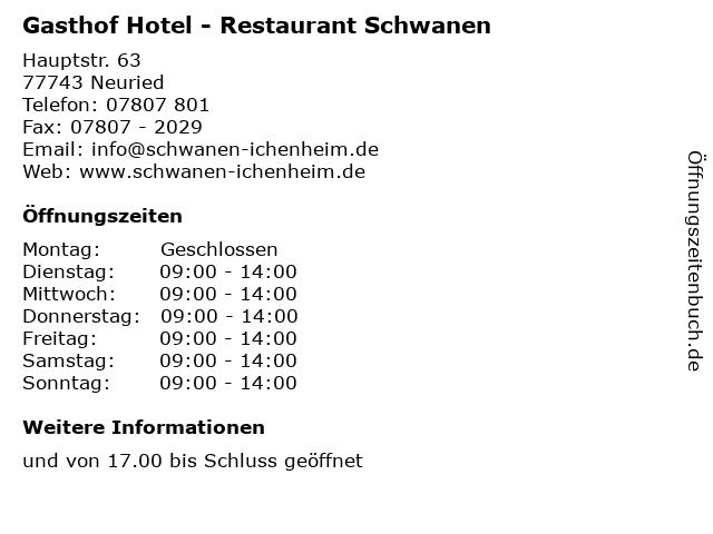 Gasthof Hotel - Restaurant Schwanen in Neuried: Adresse und Öffnungszeiten