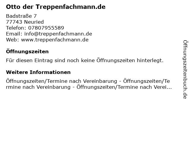 Otto der Treppenfachmann.de in Neuried: Adresse und Öffnungszeiten