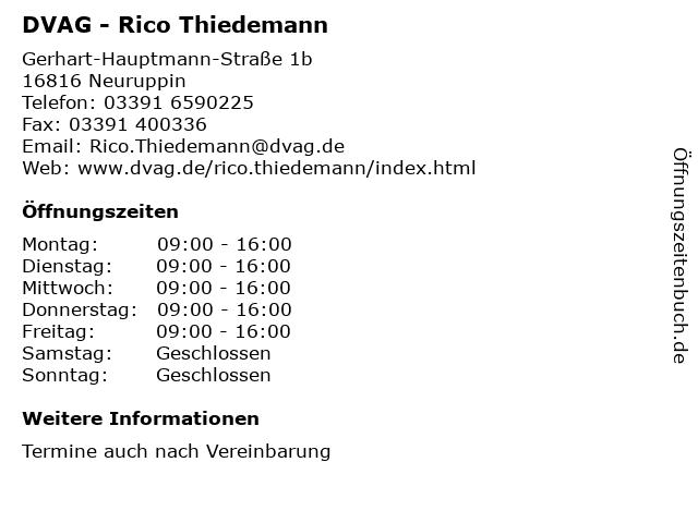 DVAG - Rico Thiedemann in Neuruppin: Adresse und Öffnungszeiten