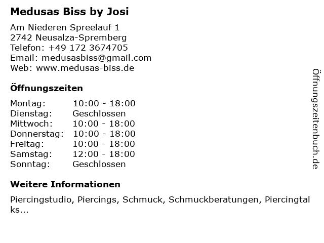 Medusas Biss by Josi in Neusalza-Spremberg: Adresse und Öffnungszeiten