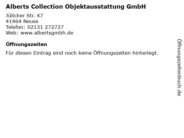 Alberts Collection Objektausstattung GmbH in Neuss: Adresse und Öffnungszeiten