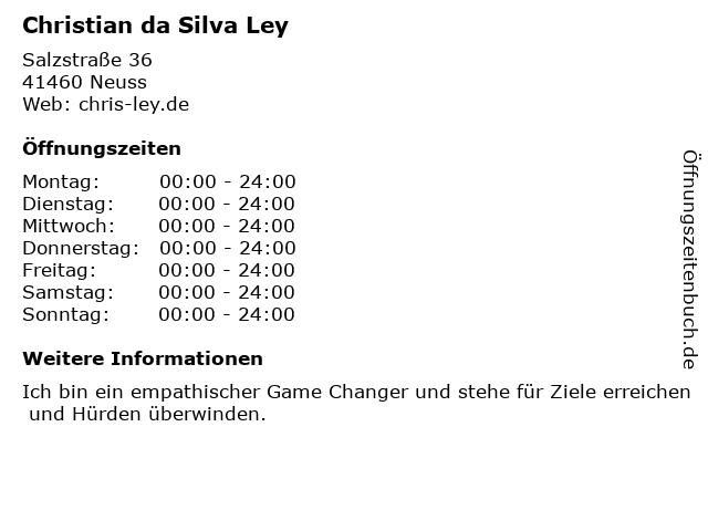 CHRISLEY ACADEMY - für Motivation und Klarheit im Leben in Neuss: Adresse und Öffnungszeiten