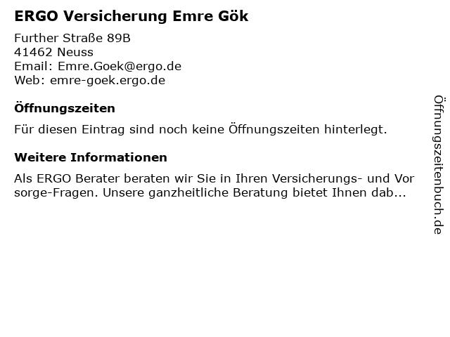 ERGO Versicherung Emre Gök in Neuss: Adresse und Öffnungszeiten