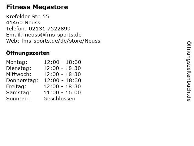 Fitness Megastore in Neuss: Adresse und Öffnungszeiten