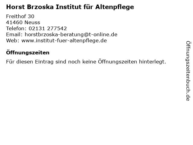 Horst Brzoska Institut für Altenpflege in Neuss: Adresse und Öffnungszeiten
