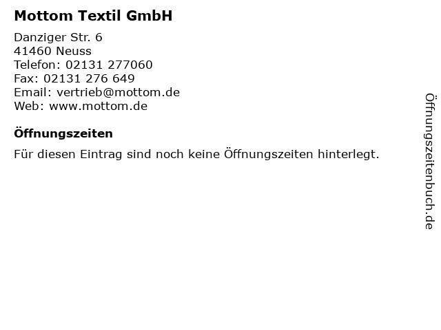 Mottom Textil GmbH in Neuss: Adresse und Öffnungszeiten
