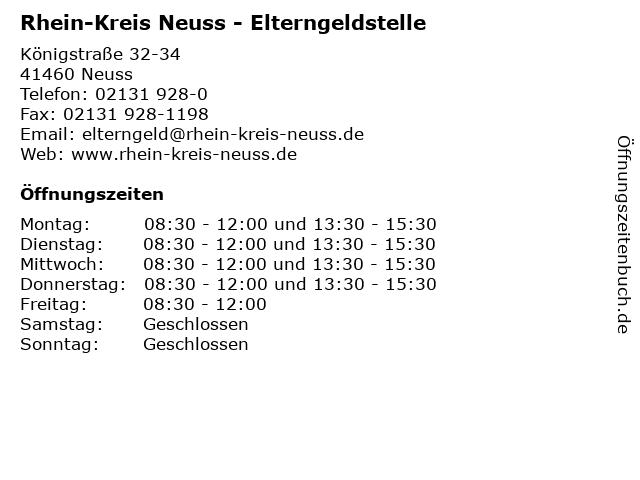 Rhein-Kreis Neuss - Elterngeldstelle in Neuss: Adresse und Öffnungszeiten