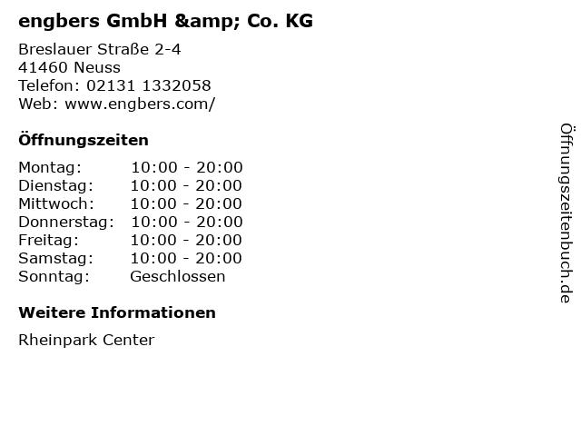 engbers GmbH & Co. KG in Neuss: Adresse und Öffnungszeiten