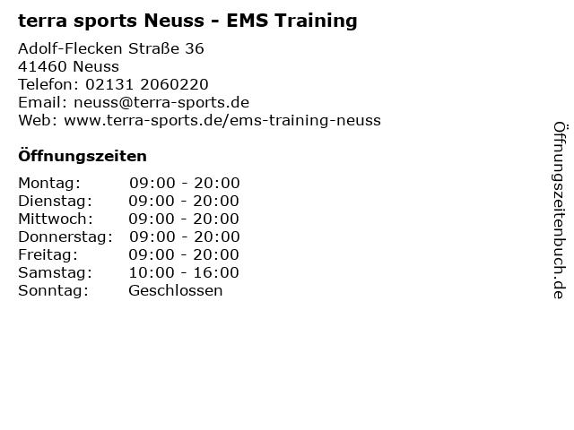 terra sports Neuss - EMS Training in Neuss: Adresse und Öffnungszeiten