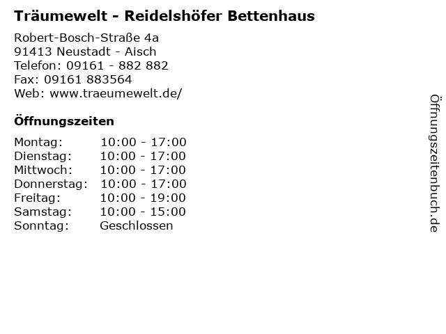 Träumewelt - Reidelshöfer Bettenhaus in Neustadt - Aisch: Adresse und Öffnungszeiten