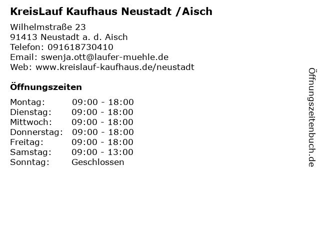 KreisLauf Kaufhaus Neustadt /Aisch in Neustadt a. d. Aisch: Adresse und Öffnungszeiten