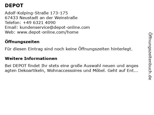 DEPOT in Neustadt a. d. Weinstraße: Adresse und Öffnungszeiten