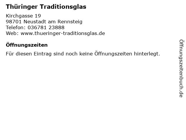 Thüringer Traditionsglas in Neustadt am Rennsteig: Adresse und Öffnungszeiten