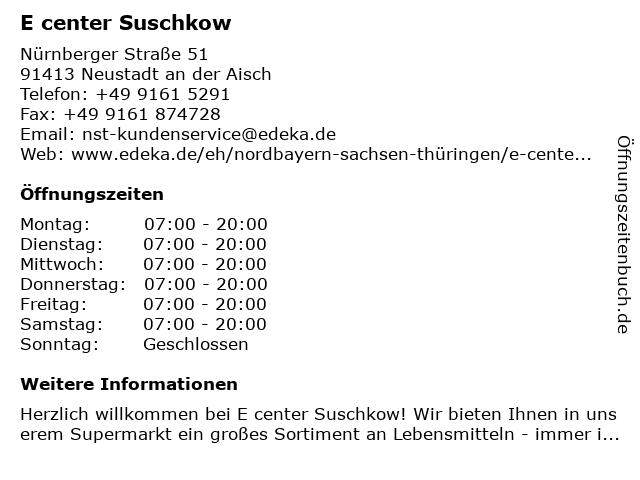 E center Kurz in Neustadt an der Aisch: Adresse und Öffnungszeiten
