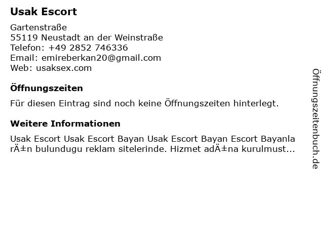 Usak Escort in Neustadt an der Weinstraße: Adresse und Öffnungszeiten