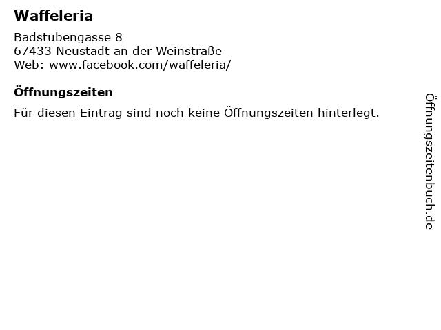 Waffelwerk Karlsruhe Karte.ᐅ Offnungszeiten Waffeleria Badstubengasse 8 In