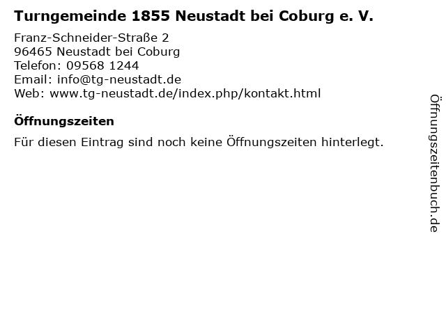 Turngemeinde 1855 Neustadt bei Coburg e. V. in Neustadt bei Coburg: Adresse und Öffnungszeiten