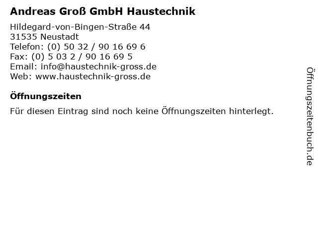 Andreas Groß GmbH Haustechnik in Neustadt: Adresse und Öffnungszeiten