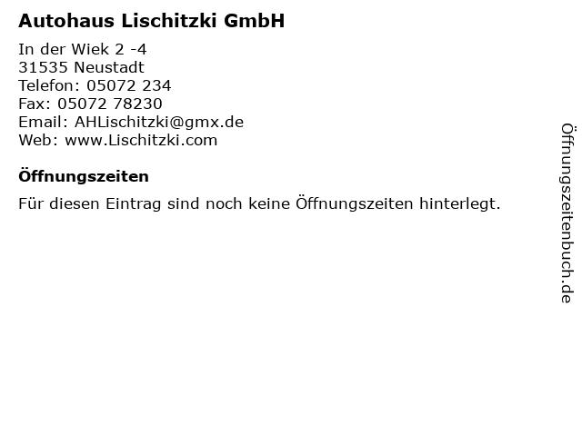 Autohaus Lischitzki GmbH in Neustadt: Adresse und Öffnungszeiten
