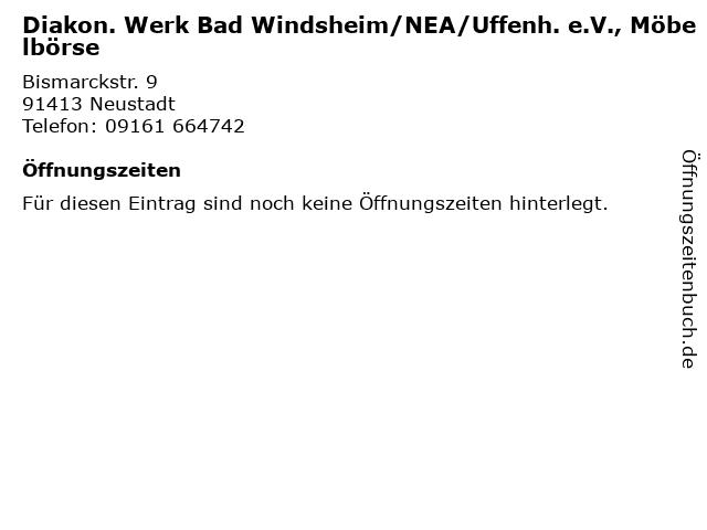 Diakon. Werk Bad Windsheim/NEA/Uffenh. e.V., Möbelbörse in Neustadt: Adresse und Öffnungszeiten