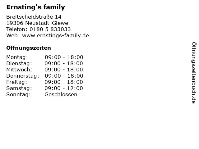 Ernsting's family in Neustadt-Glewe: Adresse und Öffnungszeiten