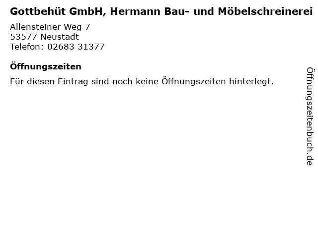 Gottbehüt GmbH, Hermann Bau- und Möbelschreinerei in Neustadt: Adresse und Öffnungszeiten