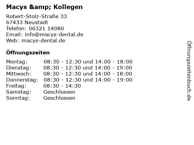 Macys & Kollegen in Neustadt: Adresse und Öffnungszeiten