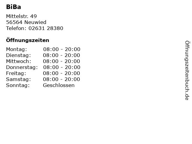 BiBa in Neuwied: Adresse und Öffnungszeiten