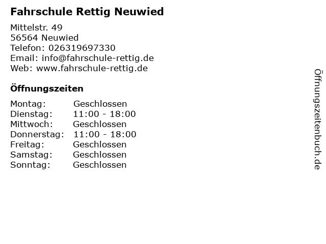 Fahrschule Rettig Neuwied in Neuwied: Adresse und Öffnungszeiten