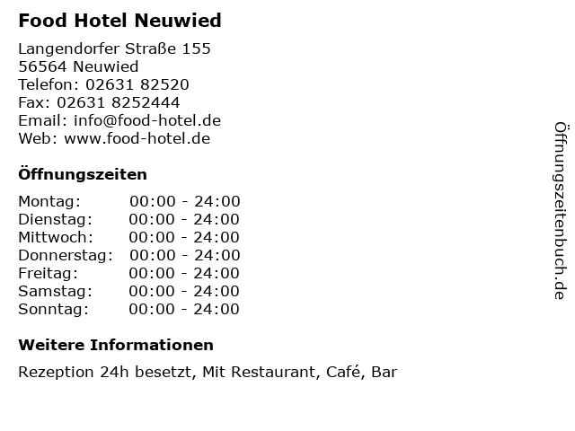Food Hotel Neuwied in Neuwied: Adresse und Öffnungszeiten