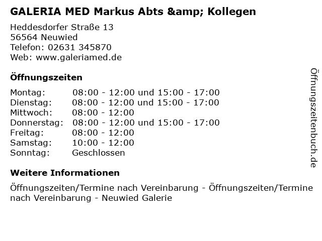 GALERIA MED Markus Abts & Kollegen in Neuwied: Adresse und Öffnungszeiten