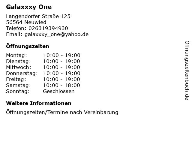 Galaxxxy One in Neuwied: Adresse und Öffnungszeiten