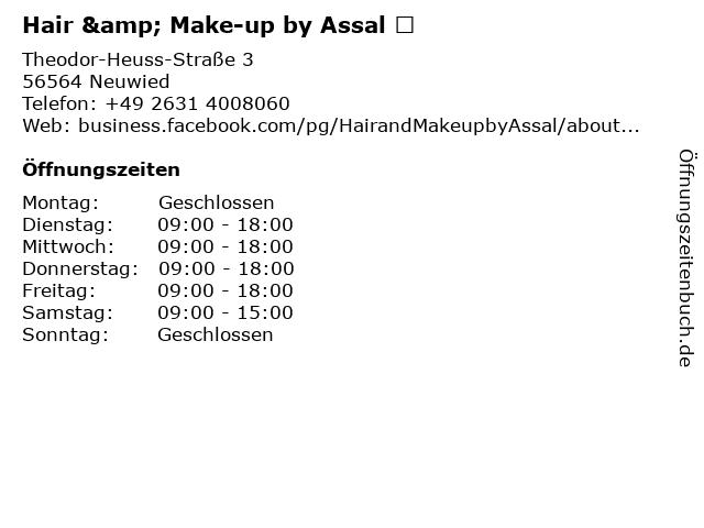 Hair & Make-up by Assal ️ in Neuwied: Adresse und Öffnungszeiten