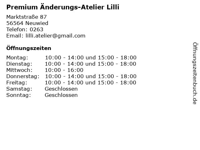 Premium Änderungs-Atelier Lilli in Neuwied: Adresse und Öffnungszeiten
