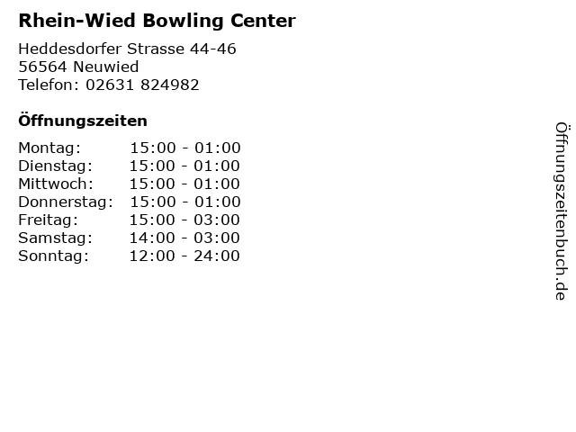 Rhein-Wied Bowling Center in Neuwied: Adresse und Öffnungszeiten