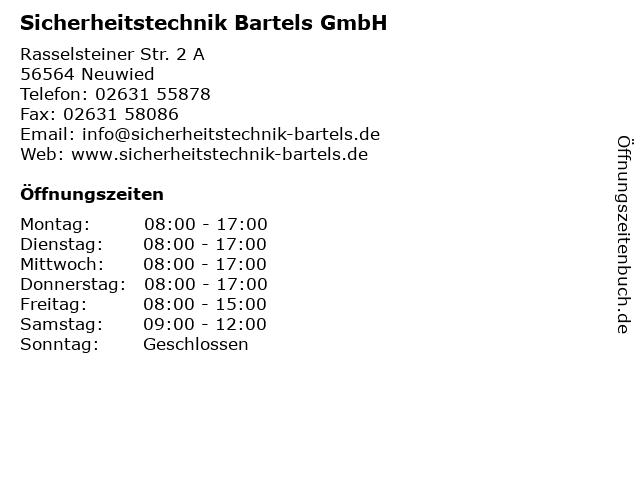 Sicherheitstechnik Bartels GmbH in Neuwied: Adresse und Öffnungszeiten