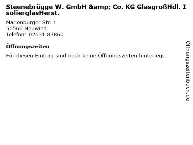 Steenebrügge W. GmbH & Co. KG GlasgroßHdl. IsolierglasHerst. in Neuwied: Adresse und Öffnungszeiten