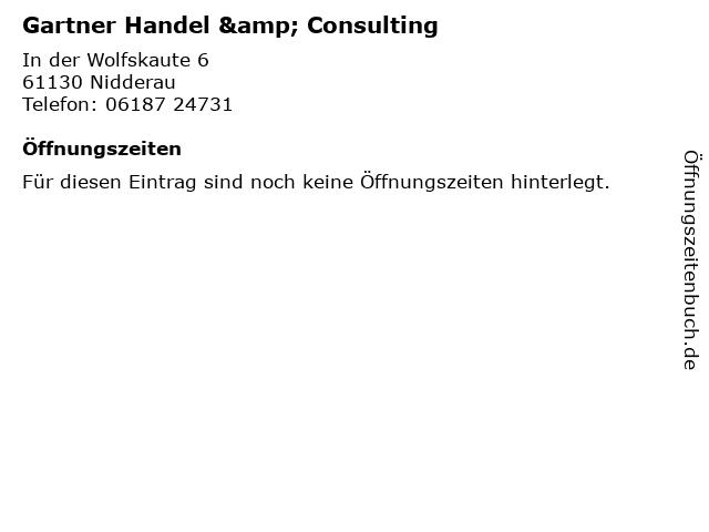 Gartner Handel & Consulting in Nidderau: Adresse und Öffnungszeiten