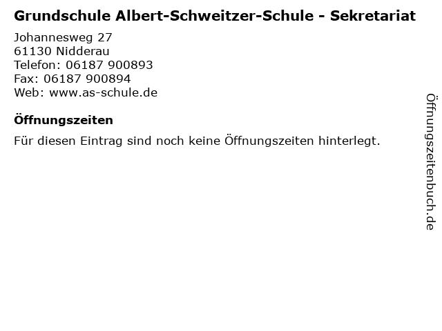 Grundschule Albert-Schweitzer-Schule - Sekretariat in Nidderau: Adresse und Öffnungszeiten