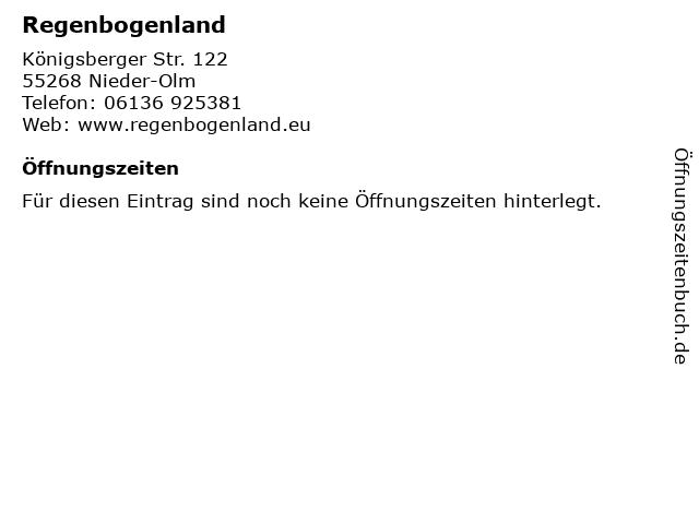 Regenbogenland in Nieder-Olm: Adresse und Öffnungszeiten
