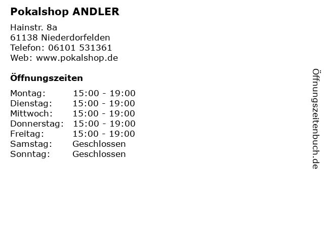 Pokalshop ANDLER in Niederdorfelden: Adresse und Öffnungszeiten