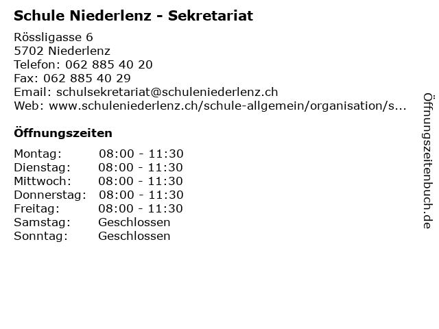 Schule Niederlenz - Sekretariat in Niederlenz: Adresse und Öffnungszeiten
