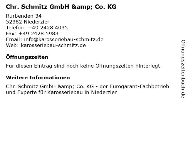 Chr. Schmitz GmbH & Co. KG in Niederzier: Adresse und Öffnungszeiten