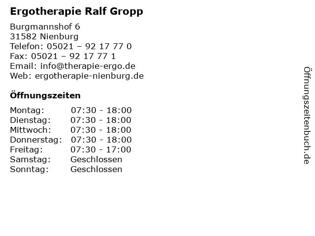Ergotherapie Ralf Gropp in Nienburg: Adresse und Öffnungszeiten