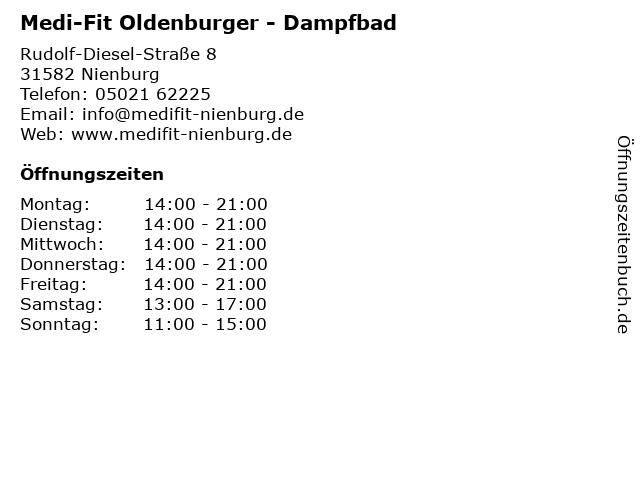 Medi-Fit Oldenburger - Dampfbad in Nienburg: Adresse und Öffnungszeiten