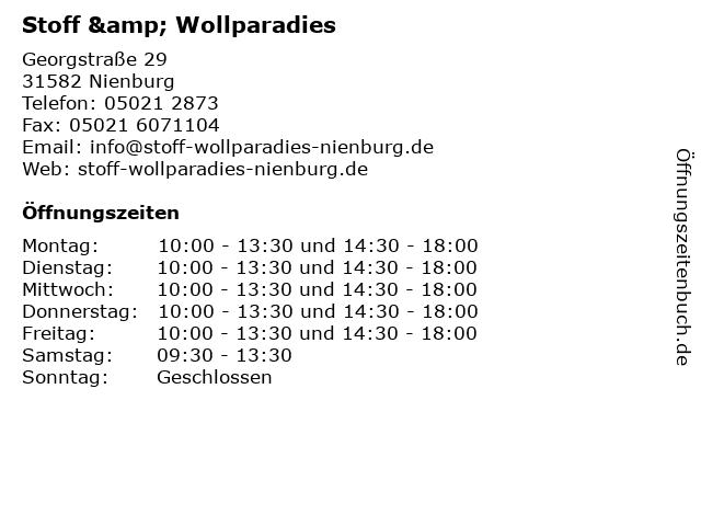 Stoff & Wollparadies in Nienburg: Adresse und Öffnungszeiten