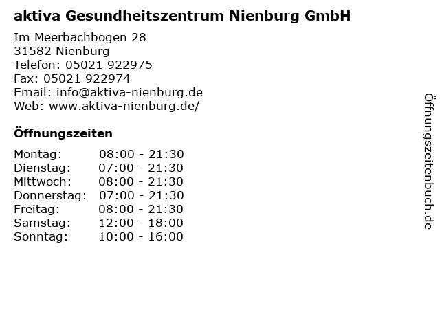 aktiva Gesundheitszentrum Nienburg GmbH in Nienburg: Adresse und Öffnungszeiten