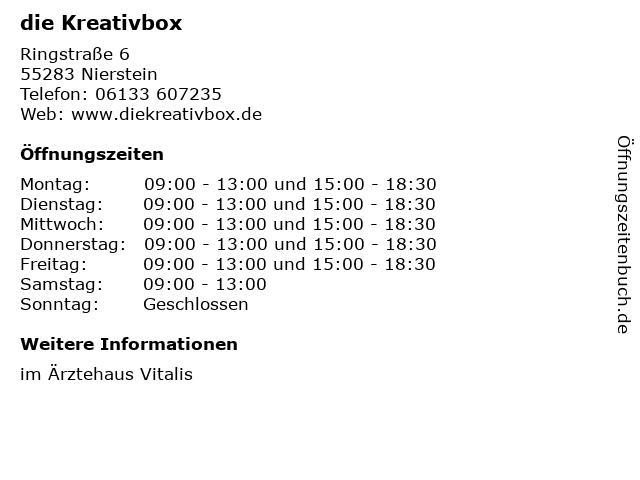 die Kreativbox in Nierstein: Adresse und Öffnungszeiten