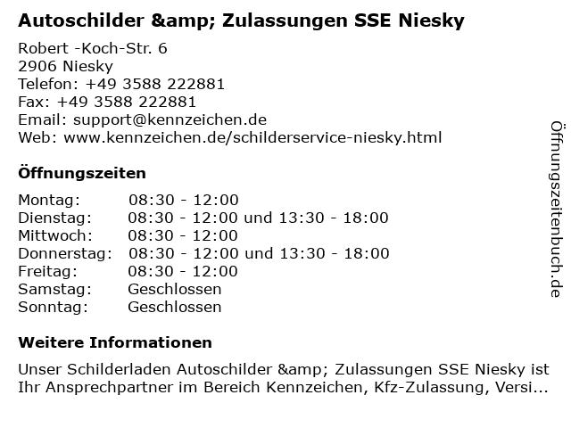 Schilder Service Niesky in Niesky: Adresse und Öffnungszeiten